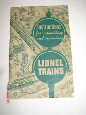 Vintage Original Lionel Trains Instructions for assembling & operating - 1951