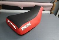 Suzuki King Quad 300 99 - Up Red Sides Logo Seat Cover #nw2344mik2343