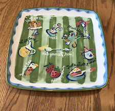 "Southern Living Sounds of the South Plate Platter 11"" Signed Becky Denny"