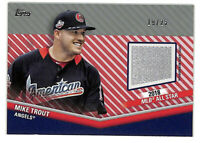 2020 Topps Update Mike Trout 2018 All Star Game 19/25 prime patch card Angels