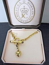 Juicy couture Gold Banner Heart Starter Necklace 16 in. New in Box
