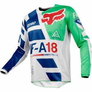 FOX RACING 180 MOTOCROSS MX BIKE MTB JERSEY - SAYAK GREEN