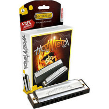 New listing New Hohner Enthusiast Hot Metal Harmonica in Key of C, 527Bx-C