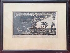 Richard Rother Grafik Holzschnitt Original Ausgefallen Selten RAR Antik! 50x38cm