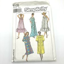 Simplicity 8108 Uncut Factory Folded Vintage 1992 Pattern Caftan Sun Dress Boho
