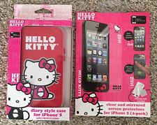 Hello Kitty - Diary Style Case For IPhone 5 w/ Screen Protectors (2 Pk) NEW