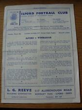 30/03/1963 Ilford v Wimbledon [London Senior Cup] (four pages, folded)