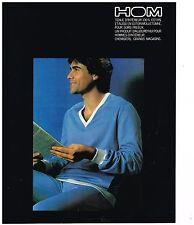 PUBLICITE ADVERTISING 054 1980  HOM   tenue d'intérieur pyjama homme