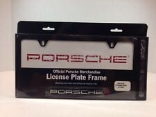 "OEM Porsche ""Porsche"" Insignia Script Logo License Plate Frame Matt Black Finish"