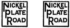 American Flyer Loco NIckel Plate Logo Decal 342 343 346