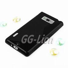 Black TPU Gel Case Cover Skin for LG L7 P705 / P700 Optimus
