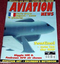 Aviation News 2007 August RAF Sentinel,Sea Venom