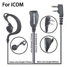 Earhook Earloop Earpiece For ICOM IC-F3001 IC-F4001 IC-F4011 Portable Radio
