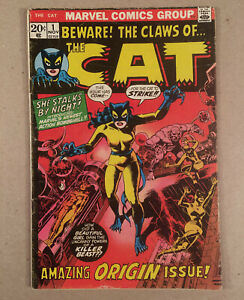 Beware! The Claws of... THE CAT #1 (1972) 1st Appearance & Origin (Greer Grant)