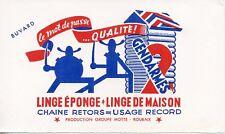 BUVARD PUBLICITAIRE / LINGE de MAISON / EPONGE  / 2 GENDARMES  / A ROUBAIX