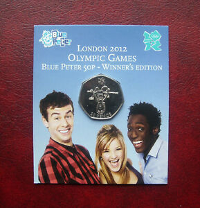 UK 2012 Blue Peter Olympic Games 50 pence coin