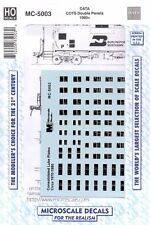 HO Scale Microscale MC-5003 Consolidated Lube Plates COTS Double Panels Decal