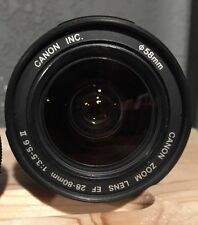 Canon Camera Zoom Lens 28-80mm EF 1:3.5-5.6 II 58mm
