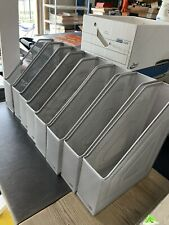 Lot Of 8 Wire Metal Mesh Durable Silver Eldon Magazinefile Holder