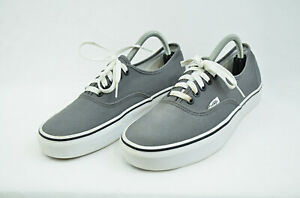 Vans Off The Wall 721356 Lace Up Low Top Gray Sneaker Shoes Size Wm 11 - M 9.5