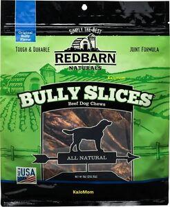 12 Bags RedBarn BULLY SLICES 9oz Pet Dog Chews Treats Natural FRESH Sealed USA