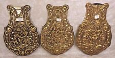 Vintage 3 Wag on Wall Clock Pendulums Embossed Design Bottom Pieces Only