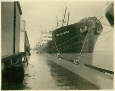 Original Photo SS Cargo Ship Cripple Creek in Dock Later sunk WWII UBoat 752