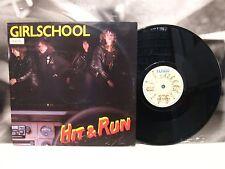 "GIRLSCHOOL - HIT & RUN 10"" EP UK 1981 BRONZE RECORDS BROX 118"
