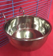 Small Animal Rabbit Guinea Pig Cage Clip On Water Food Bowl 2 Hook Coop Cup 12cm