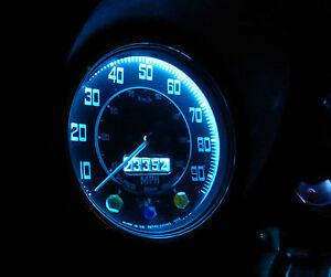 Triumph TR250 GT6 Herald Vitesse Dash Instrument Ice Blue LED Bulb Upgrade x2