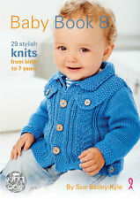 King Cole Baby Book Eight Knitting Booklet Double Knit Patterns Birth - 7 Years