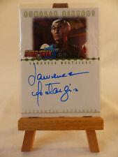 Star Trek Nemesis Romulan History autograph card Lawrence Montaigne - Decius RA4