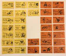 Vintage Monopoly Real Estate Game 1961 Parker Brothers Replacement Chance Cards
