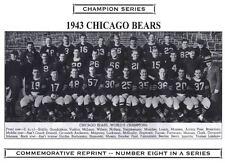 1943 Chicago Bears Nfl Champion Photo Nagurski