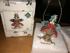 "Charming Tails "" Holly Day Tail "" Dean Griff Christmas Ornament"