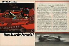 1970 U.S. Grand Prix FORMULA 1 ONE  Article /Photos / Pictures: LOTUS,FITTIPALDI