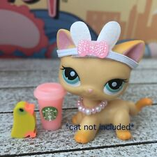 Littlest Pet Shop Accessories LPS Clothes Lot Starbucks CAT DOG NOT INCLUDED