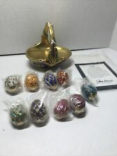 New ListingFranklin Mint Fabergé Spring Egg Basket 9 Eggs Porcelain Coa in Original Box