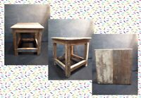 Vintage Small French Rustic Wooden Stool,
