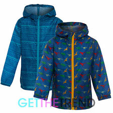 Boys Hooded Printed Raincoat Toddlers Novelty Kagool Kag Waterproof Rain Coat