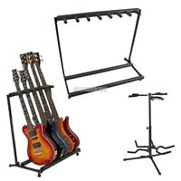 Triple/Five/Seven Folding Multiple Guitar Bass Holder Stand Stage Display Rack