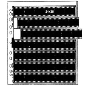 Matin 100 Pcs Klares Blatt Film 35mm 135 Format 24x36 Archivierung Speicherseite