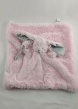 Blankets and Beyond Pink Bunny Gray Baby Security Lovey Plush Long Ears Paci