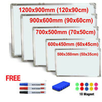 MAGNETIC WHITEBOARD SMALL LARGE WHITE BOARD DRY WIPE NOTICE OFFICE HOME SCHOOL