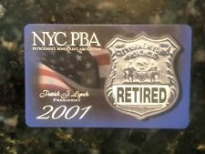 RETIRED NYPD New York City Police PBA Card 2001