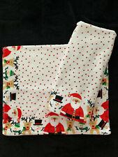 Casaba - Christmas Reindeer Santa Snowman - Red - Hand Towels Set Of 2 - New