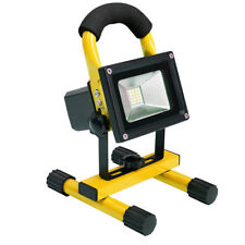 12V/110v Portable Car Rechargeable LED 10W Cordless Work Spot Light Flood Lamp