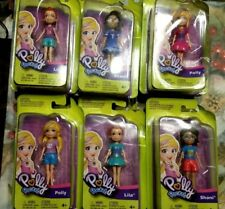 NEW 2018 VERSION POLLY POCKETS 6 DOLLS  POLLY SHANI AND LILA DOLLS DMGD PACKAGE