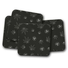 4 Set - Cannabis Leaf Coaster - Diamond Weed Marijuana Dope Medical Gift #16527