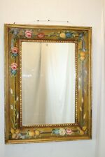 Venetian Style  Italian Wall Mirror with Exceptional  Art Hand Paint Design !